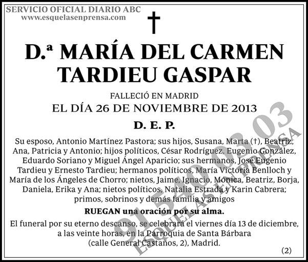 María del Carmen Tardieu
